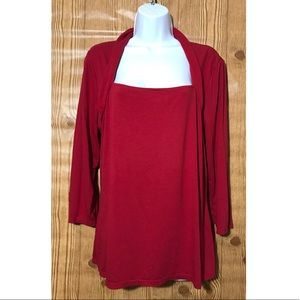 White House /Black Market Small Size Red Blouse